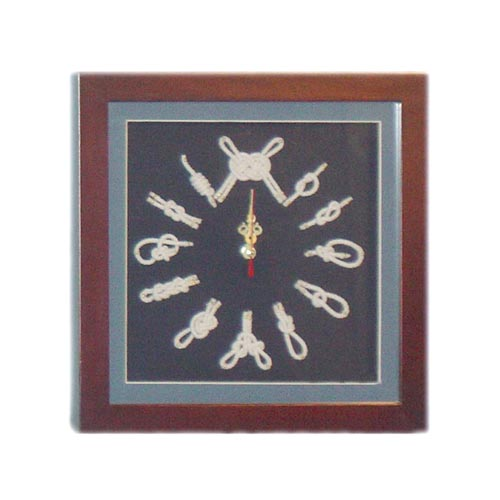 WOODEN NAUTICAL FRAME W/ CLOCK