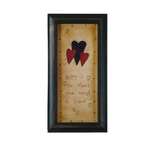 Friend Heart Stitched Frame