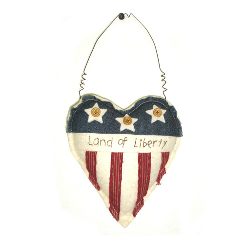 Land Of Liberty Hanging  Heart