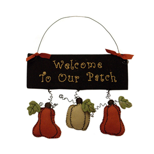 WELCOME TO OUR PATCH HANGING ORNAMENT