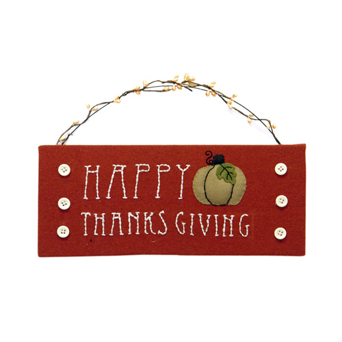 S/2 AUTUMN BLESSINGS HANGING ORNAMENT