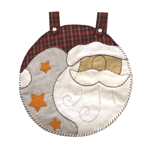 SANTA CLAUSE HEAD TAPESTRY ORNAMENT