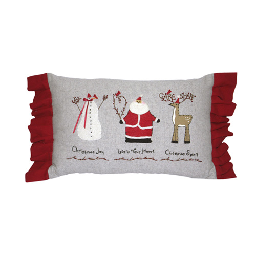 CHRISTMAS CUSHION WITH LACES