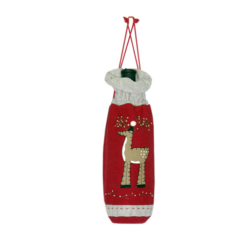 CHRISTMAS MOOSE WINE BAG