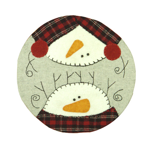 SNOWMAN HEAD TABLE COASTER