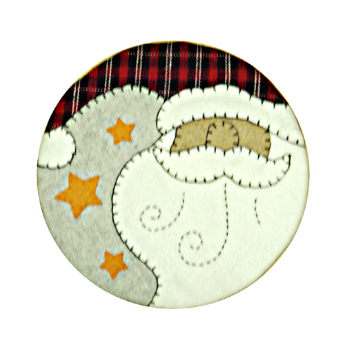 SANTA CLAUSE HEAD TABLE COASTER