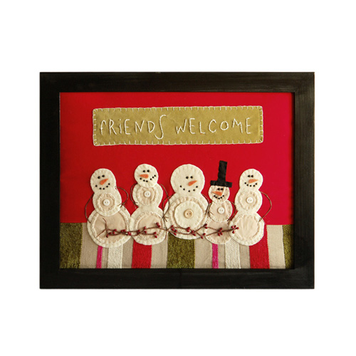 FRIENDS WELCOM SNOWMAN FRAME