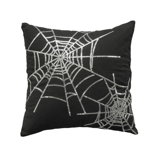 SEQUIN SPIDERWEB CUSHION