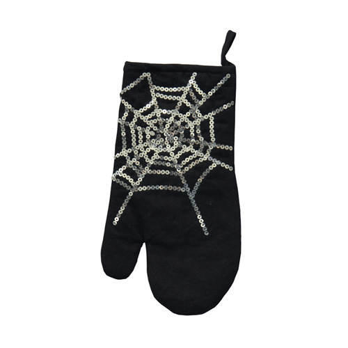 SEQUIN SPIDERWEB OVEN GLOVE
