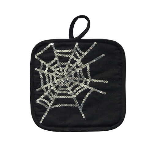 SEQUIN SPIDERWEB HOT MAT