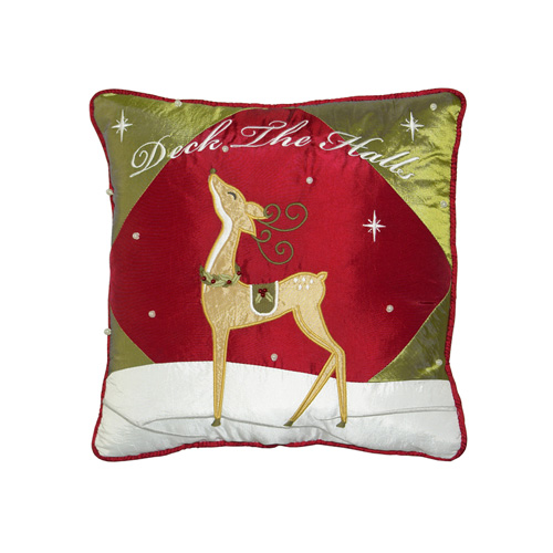 GOLDEN REINDEER CUSHION