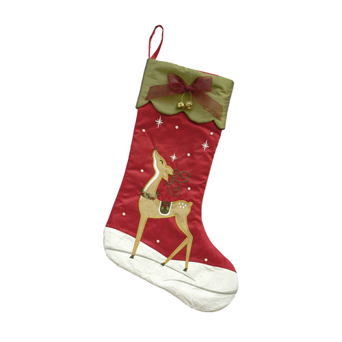 GOLDEN REINDEER STOCKING