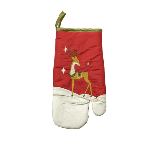 GOLDEN REINDEER OVEN GLOVE