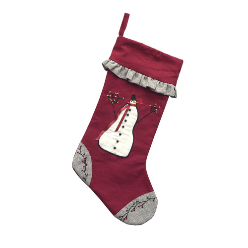 BERRY & SNOWMAN STOCKING