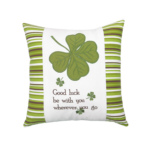 LUCKY CLOVER SAQUARE CUSHION