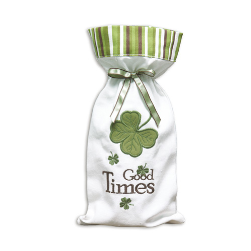 LUCKY CLOVER WINE BAG