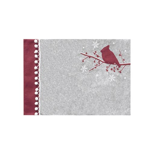 CHRISTMAS BERRY & BIRD PLACEMAT