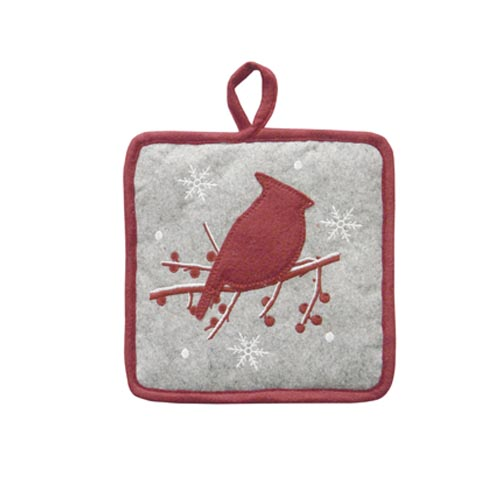 CHRISTMAS BERRY & BIRD HOT MAT