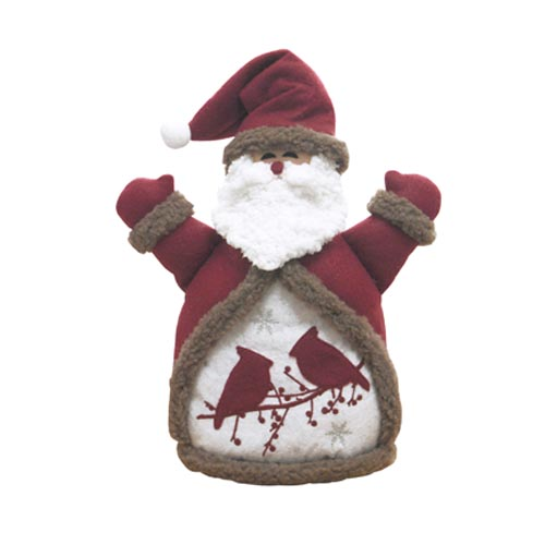 SANTA & BIRDS DOLL ORNAMENT