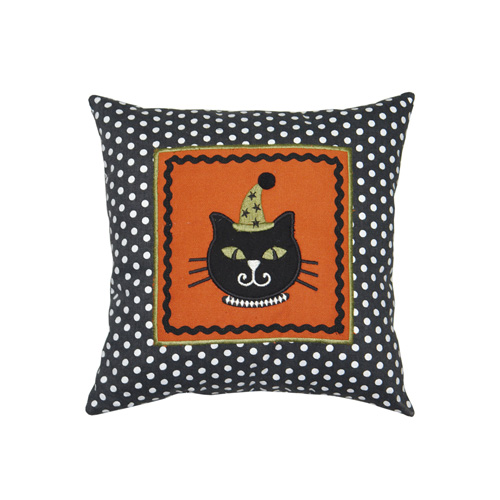 BLACK CAT SQUARE CUSHION