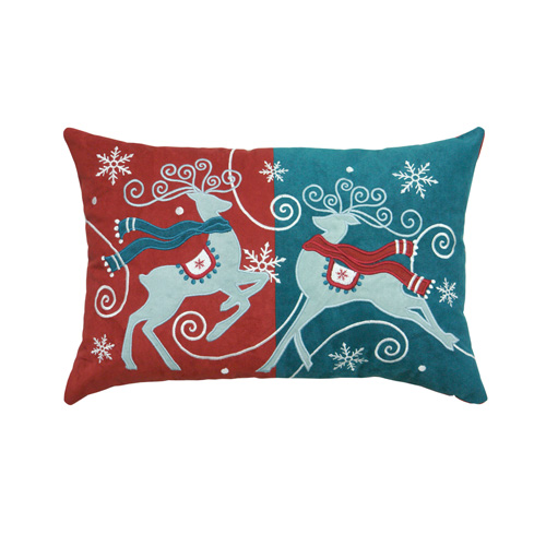 Reindeer & Snowflake Cushion