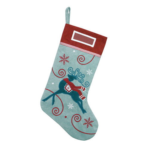 Reindeer & Snowflake Stocking