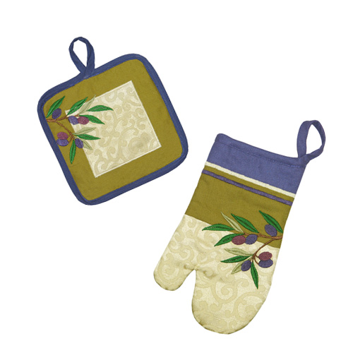 OLVE TREE OVEN GLOVE/HOT MAT