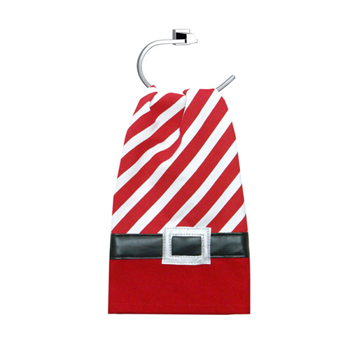 Christmas Candy Stripe Guest Towel