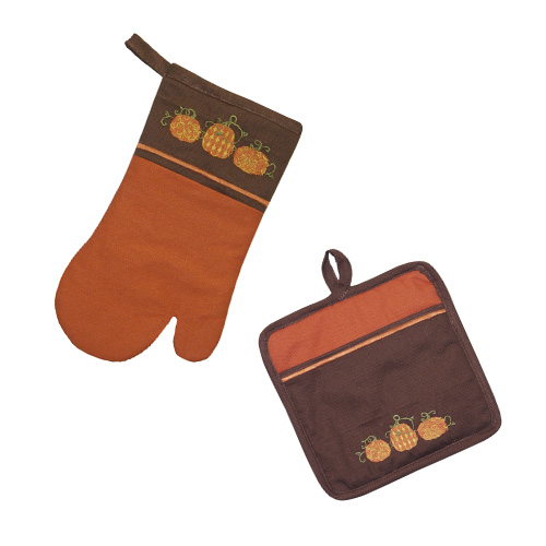 PUMPKINS HOT MAT & OVEN GLOVE