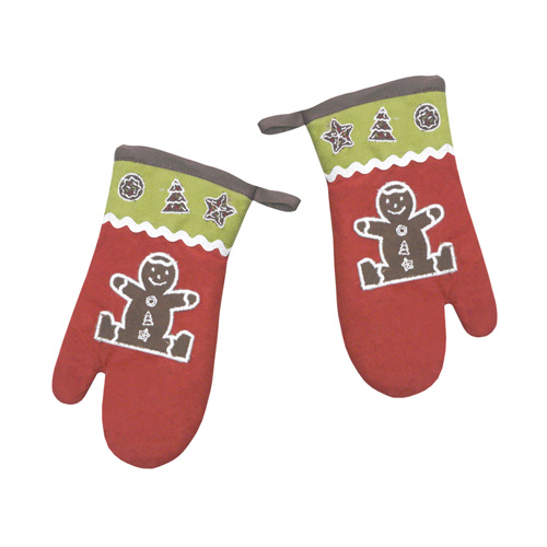 S/2 Gingerbread Oven Glove