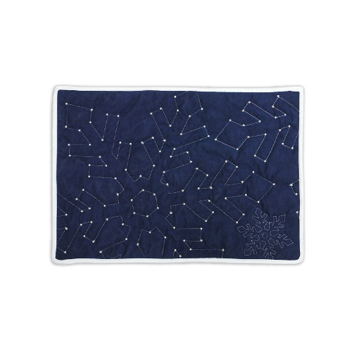 Reversible Snowflake Placemat, Blue Side
