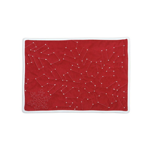 Reversible Snowflake Placemat, Red Side