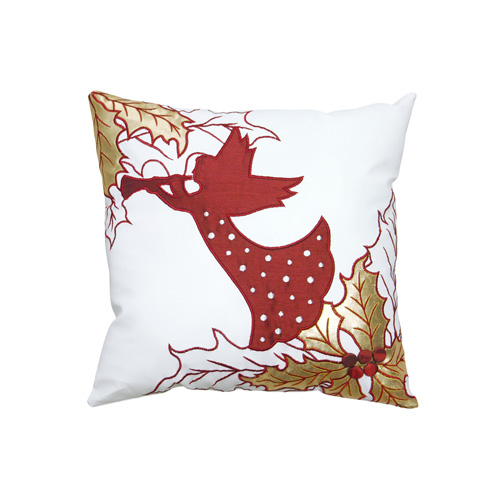 Fairy & Christmas Leaf Cushion