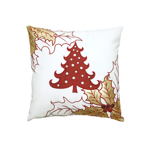 Christmas Tree & Christmas Leaf Cushion