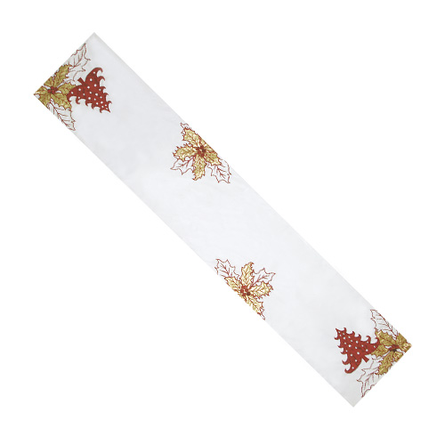 Christmas Tree & Christmas Leaf Table Runner
