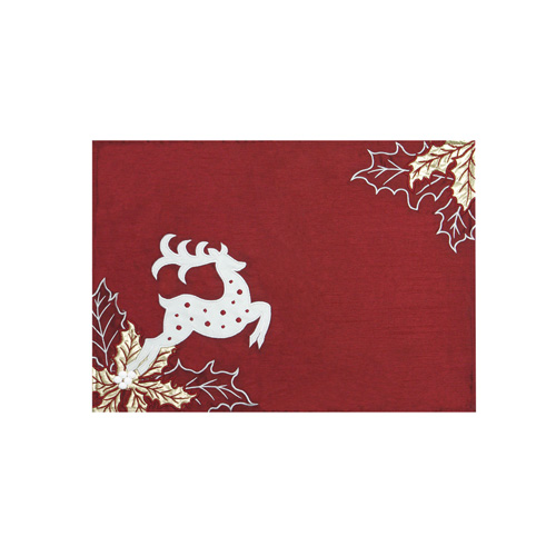 Reindeer & Christmas Leaf Placemat