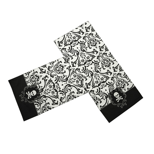 Damasj Skull Table Runner