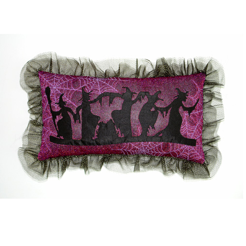 Glittery Witch Pillow