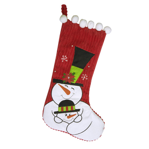 Mommy And Me Snowman Stocking
