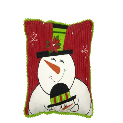 Mommy And Me Snowman Pillow