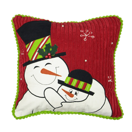 Daddy And Me Snowman Pillow