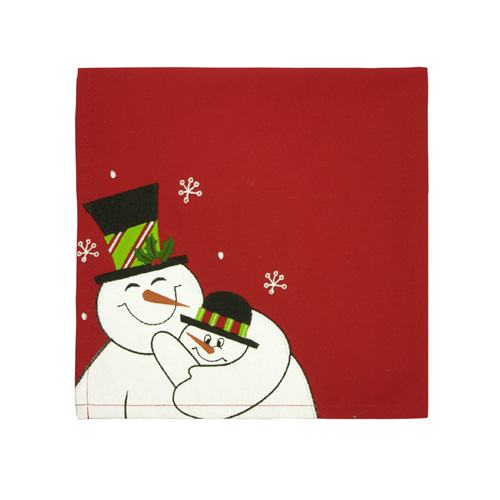 Daddy And Me Snowman Napkin