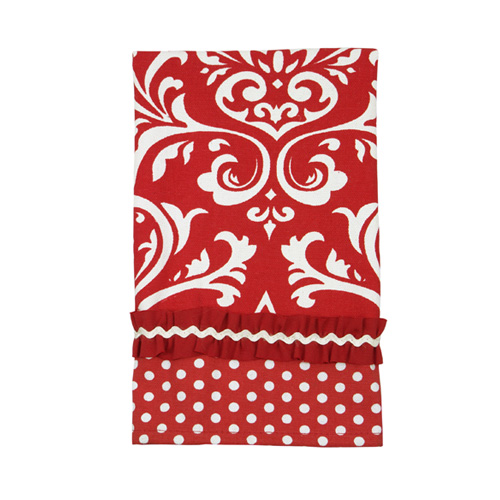 Poinsettia Damask Towel