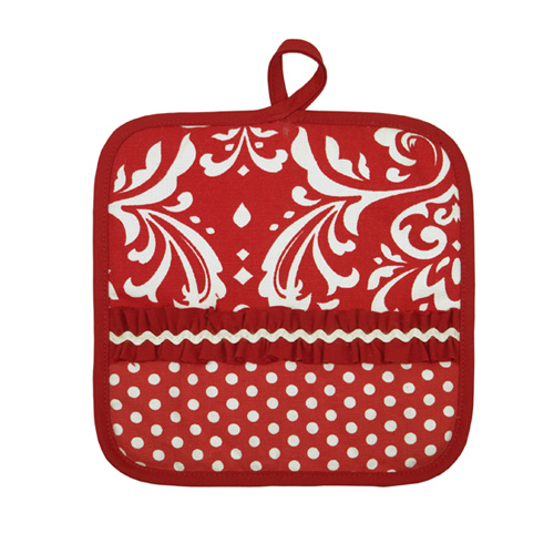 Red Damask Hot Mat