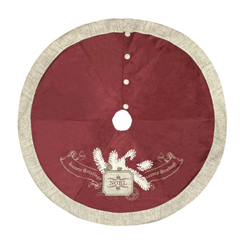 Shimmer Seasons Greetings Tree Skirt